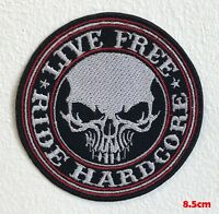 GET SCARED Iron On Sew On Embroidered Patch Hardcore Music Band
