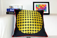 Vintage KAS Yellow Spots Stitch Embroidered Decor Cotton CUSHION COVER 20""