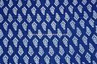 Indigo Dye sanganei cotton fabric hand block printed Dabu Print fabric Floral