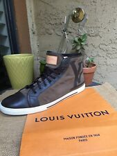 AUTH LOUIS VUITTON MENS SHOES SNEAKERS INITIALES US SIZE 13.5 MADE IN ITALY