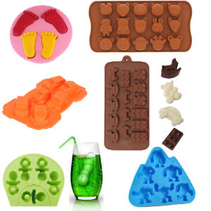 Silicone Mold Baby Shower Chocolate Ice Cube Tray Molds DIY SOAP Jello Candy