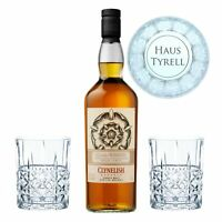 Game of Thrones Haus Tyrell Set Clynelish Reserve Whisky + 2 gravierte Gläser