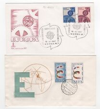 1957 & 1967 ITALY - 2 x First Day Covers EUROPA CEPT ISSUES