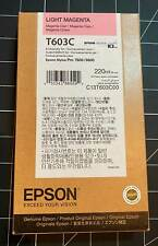 12/2021 GENUINE EPSON T603C LIGHT MAGENTA 220ml INK STYLUS PRO 7800 9800