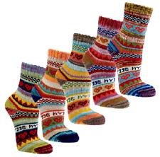 3 Paar bunte Hygge Socken im Norweger-Style Damen Strümpfe 90% Baumwolle (2297)