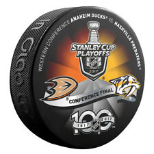 2017 NASHVILLE PREDATORS vs ANAHEIM DUCKS Stanley Cup Playoff Hockey Puck