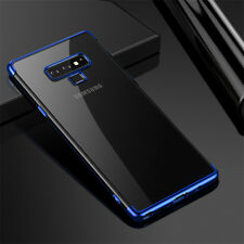 For Samsung Galaxy Note 9 S9 S8 + Plating Soft Silicone Hybrid Clear Case Cover