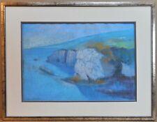 Cliffs at Dooneen, Cork. Pastel by listed artist Waveney Frederick PS RBSA c1985