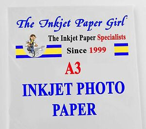 A3 130g High Glossy Photo Inkjet Professional Paper 20 sheets