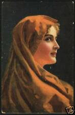 Art W. Hunger Marga Pritty Young Woman Vintage Postcard