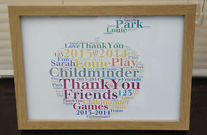 Personalised Teacher/Childminder Keepsake, Thank you gift, All Occasions