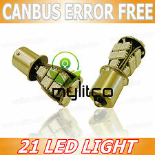 2 x LED A LUCE BIANCA BA15S [ 382, P21W ] Smd Lampadine Auto CANBUS NO ERRORE FREE 12V