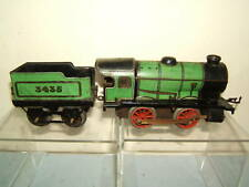 VINTAGE HORNBY MODEL No.M1  0-4-0 LOCO AND TENDER  WITH BLACK CHASSIS