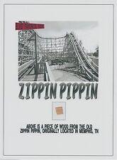 ZIPPIN PIPPIN Libertyland Elvis roller coaster piece, relic, Memphis history