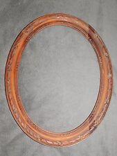 CADRE ANCIEN OVALE EN BOIS SCULPTE DE TRESSES 36.5 CMX46.5 CM OLD FRAME CADR555