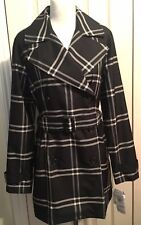 BNWT 100% Genuine Ralph Lauren Women Black Check Trench Coat Size M - RRP £205