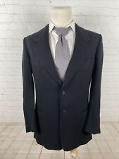 Giorgio Armani Men's Black Blazer Solid Wool Blazer 44L $2,885
