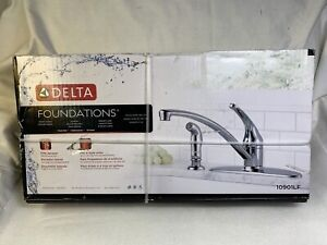 Delta Single Handle Kitchen Faucet With Matching Side Spray 10901LF