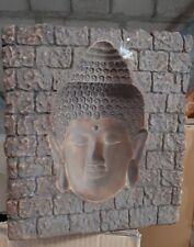 5 Stück POSTEN buddha Kopf Relief 3 D feng shui SONDERPOSTEN 24cm