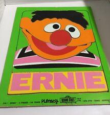 Playskool Puzzles 2 Vintage 1973 Sesame Street Grover  Ernie Wooden