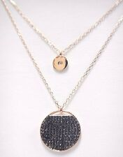 Retiredginger Layered Pendant Gray, Rose Gold Plating Swarovski Jewelry #5347299
