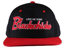 Rocksmith Black Red Love Me Some Black Chicks Snapback Baseball Hat Cap NWT