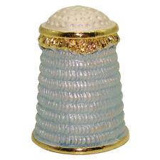 Rare dé à coudre Collection Fabergé style/ Dé à coudre Original - Cascade bleu