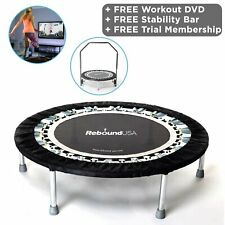 MaXimus Pro Gym Rebounder Mini Trampoline with Handle Bar and VIDEO Membership