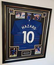 *** EDEN HAZARD of Chelsea Signed Shirt Autographed Jersey Display ***