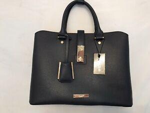 "Dune Diella Navy Large Tote Handbag (14x10"")"