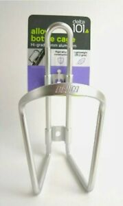 Bottle Cage Bike Cycle Delta 101 Durable Alloy Silver Lightweight NEW Race Gear