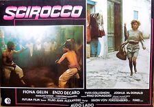 fotobusta lobby card SCIROCCO ALDO LADO FIONA GELIN ENZO DECARO COLLIGNON CINEMA