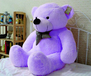 "Hot Sale Giant 39"" Huge Teddy Bear Purple Big Stuffed Animal Plush Soft Toy Doll"
