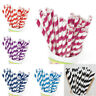 25 Pcs Biodegradable Paper Drinking Straws Striped Birthday Party Bar Supplies