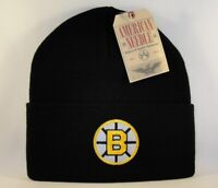 Boston Bruins NHL Cuffed Knit Hat American Needle Black