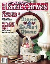 Quick & Easy Plastic Canvas Magazine No. 2 Oct/Nov 1989 ~ 56 projects