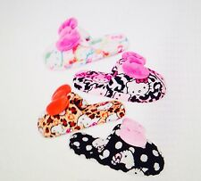 Hello Kitty Super Plush Slide Slippers-White Rainbow Size 5/6 NWT N