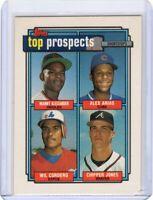 1992 TOPPS BASEBALL PROSPECTS CARD # 551 - CHIPPER JONES - ATLANTA BRAVES