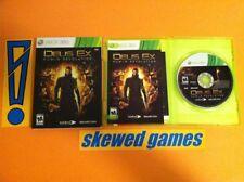 Deus Ex Human Revolution - XBox 360 Microsoft COMPLETE