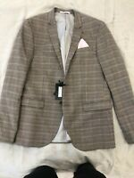 BRAND NEW with Tags River island Skinny Fit Blazer Checkered RRP £85 Size 42