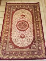 Persian 100% Silk Qum (Qom) rug 700 KPSI 3'x5' signed, new like condition c.1980