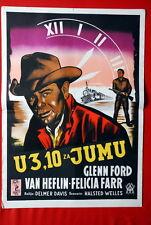 3:10 TO YUMA GLENN FORD VAN HEFLIN WESTERN 1957 RARE EXYU MOVIE POSTER