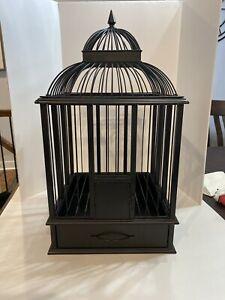 Decorative Black Metal Bird Cage