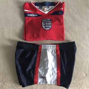 Umbro Official England Football Shirt Size L Preowned Plus Umbro Shorts