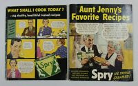 "Lot of 2 Cookbooks ~ Spry Shortening ~ 1936 ""Aunt Jenny's Favorite Recipes"""