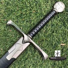 Crusader (Cross) Medieval Knight Arming Sword w/ Scabbard-CUSTOM ENGRAVED