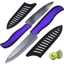 2 Piece Ceramic Knife Set 4'' Utility 5'' Slicing Knives Cooking Tool Free Cover