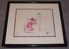 FRIZ FRELENG SIGNED THE PINK PANTHER HAND PAINTED ANIMATION ART CEL FRAMED /200