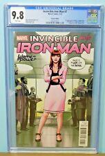 Invincible Iron Man #7 Variant 1st Tomoe Riri In Cameo Hot Key CGC Graded 9.8