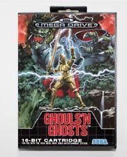 Sega Mega Drive Ghouls 'n Ghosts PAL Game Cartridge with Box